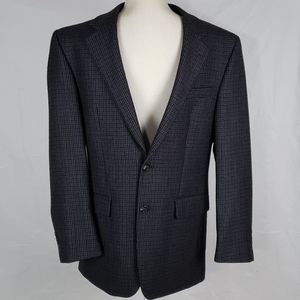 Chaps Lambs Wool Houndstooth Sports Coat Jacket VG